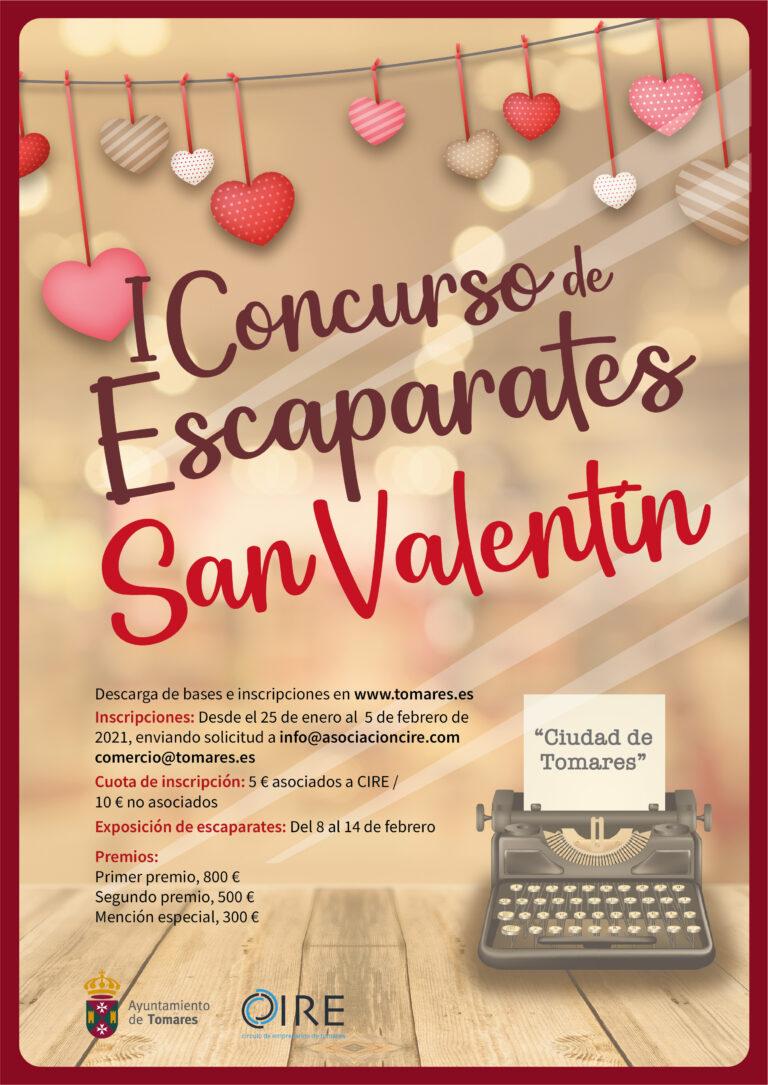I CONCURSO DE ESCAPARATES SAN VALENTIN CIUDAD DE TOMARES